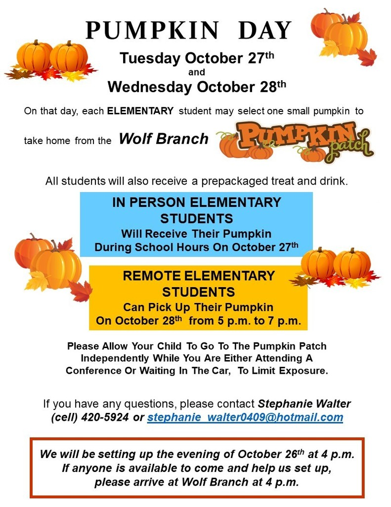 Wolf Branch Elementary Pumpkin Day