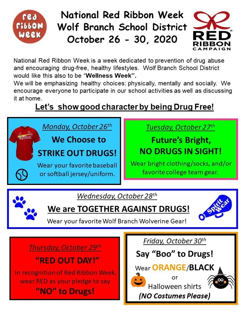 Wolf Branch National  Red Ribbon Week
