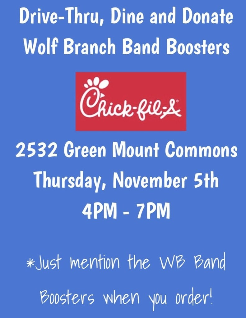 Wolf Branch B and Boosters Dine & Donate