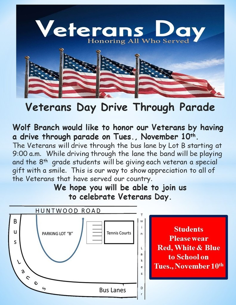 Veteran's Day Drive Through Parade - Tues., November 10th