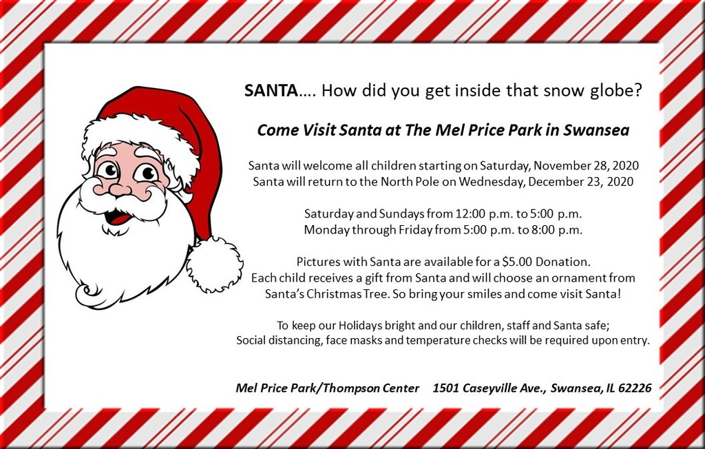 Visit Santa at Mel Price Park in Swansea