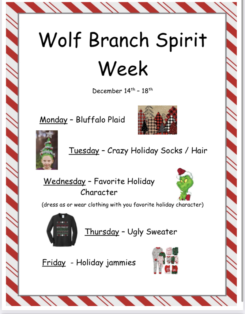 Holiday Spirit Week!!!