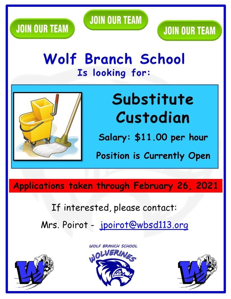 Wanted: Substitute Custodian