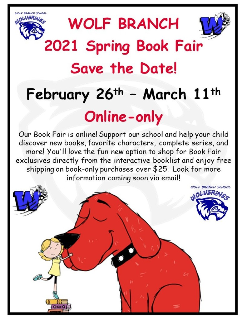 Spring 2021 - On-Line Book Fair - SAVE THE DATE