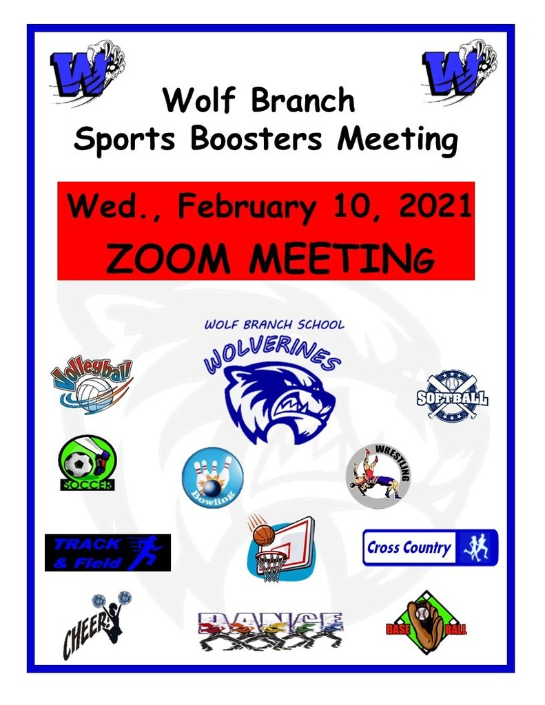 Sports Boosters - Feb. 10, 2021 - ZOOM Meeting