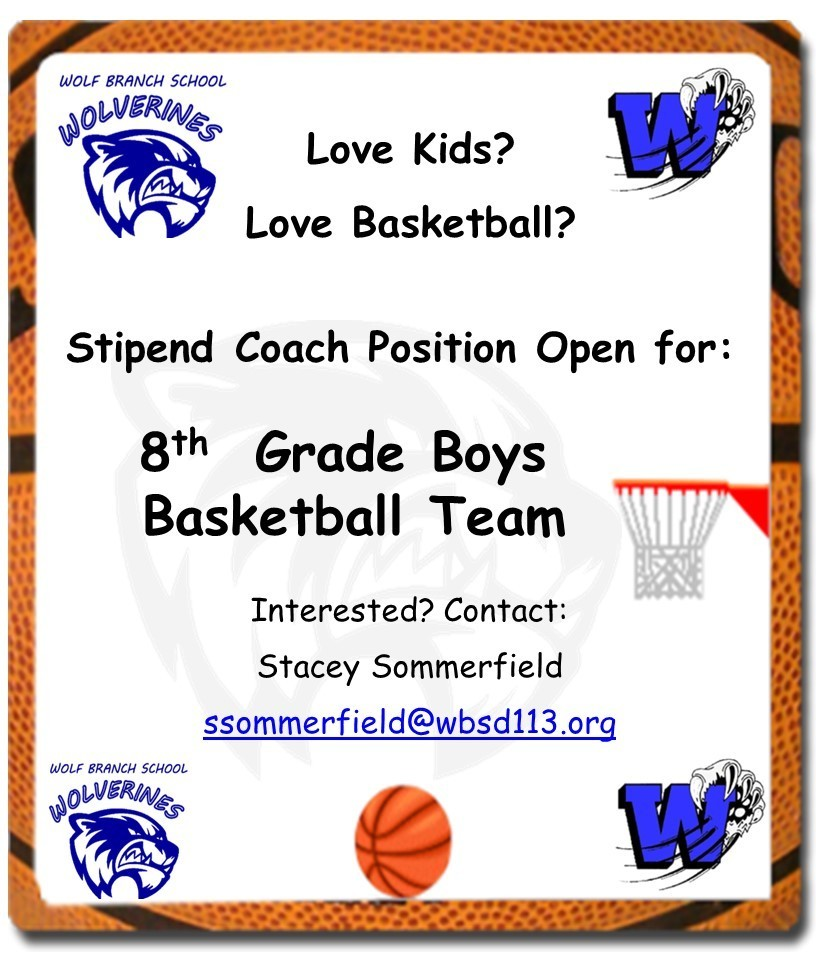 Position for 8th Grade Boys Basketball Coach