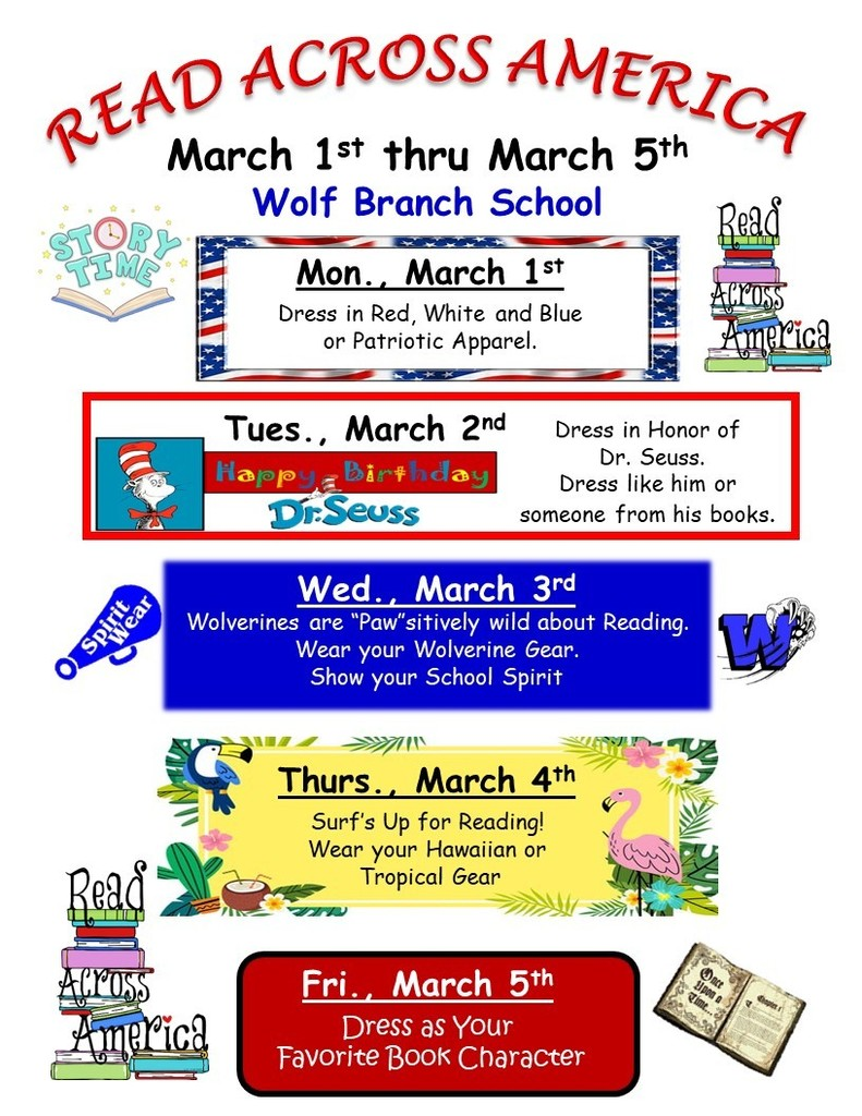 Read Across America Week - March 1st - March 5th