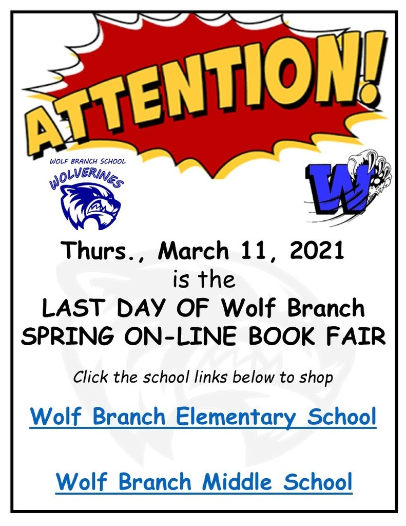 Wolf Branch - Last Day - Spring 2021 Book Fair