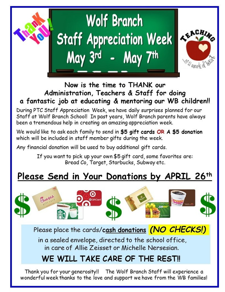 Spring Staff Appreciation Week