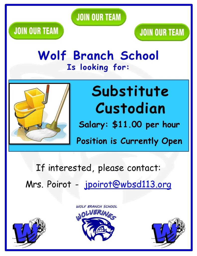 Vacancy - Substitute Custodian