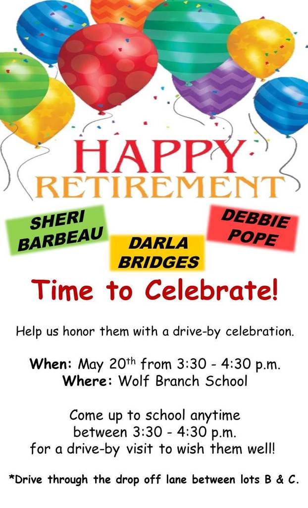 Happy Retirement Drive By Celebration