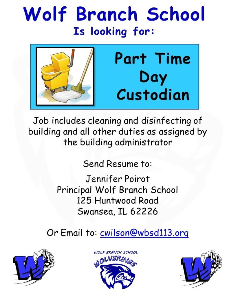 Part Time Day Custodian Needed