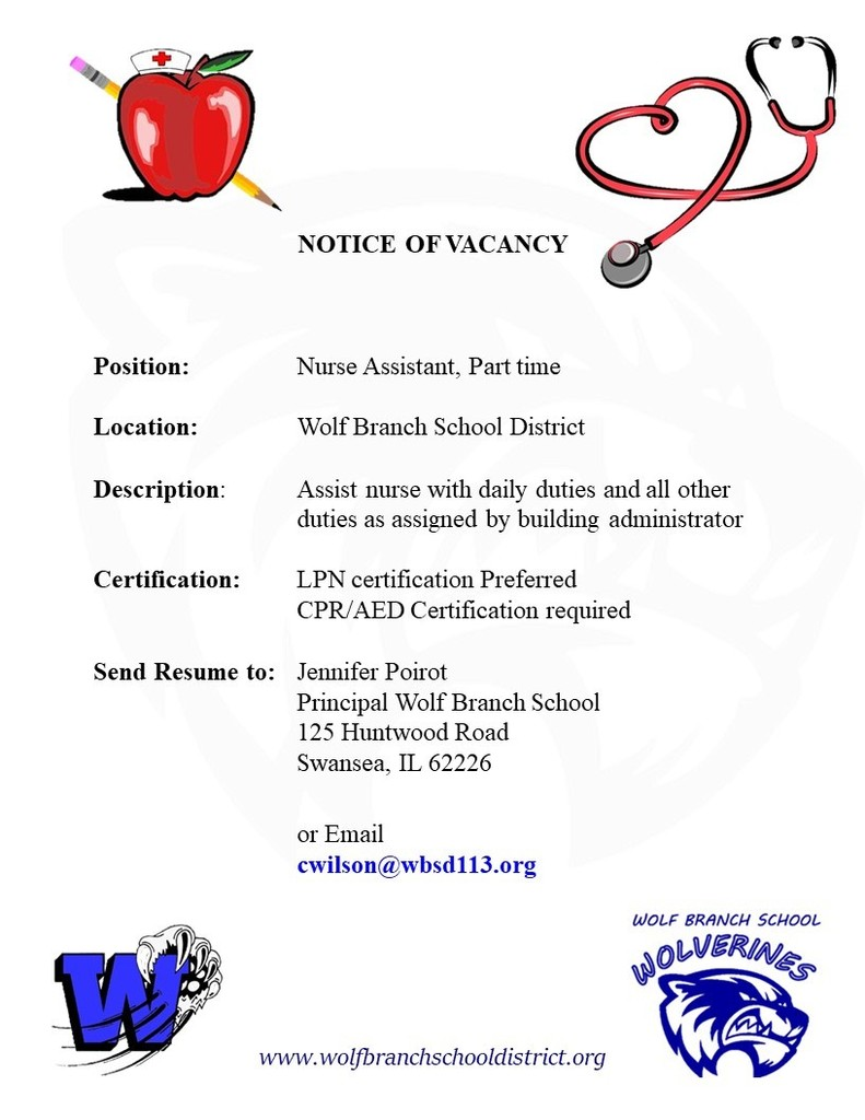 Wolf Branch Part Time Nurse Assistant