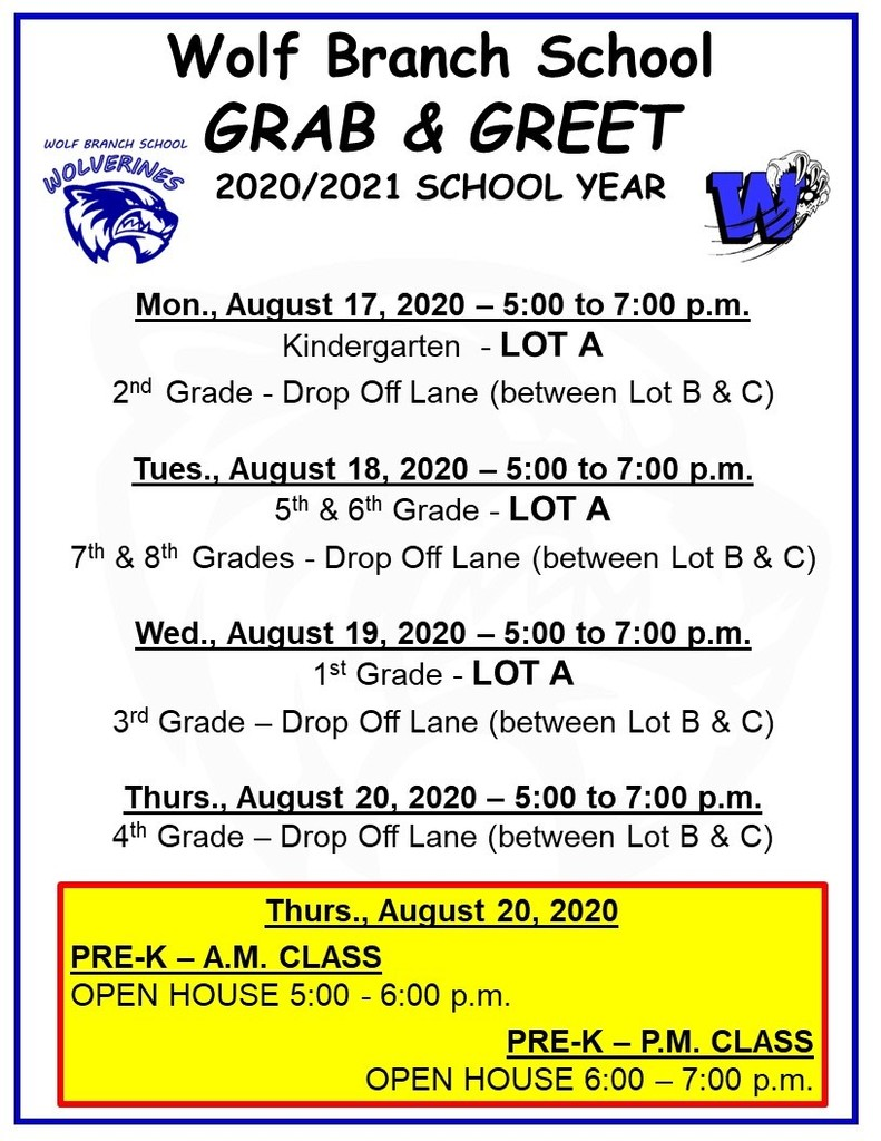 Wolf Branch Grab & Greet Dates