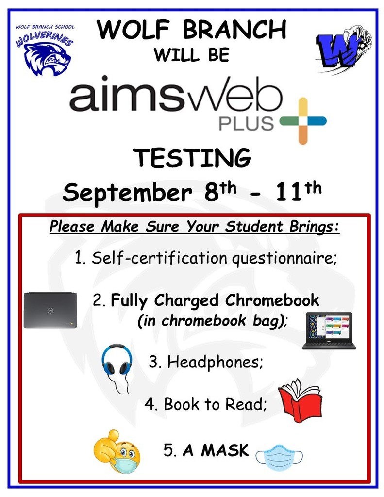 Wolf Branch AimsWeb Testing Information