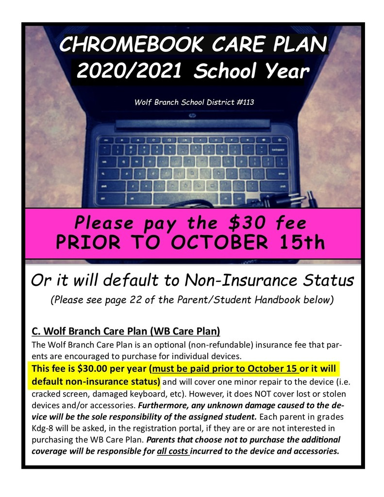 2020/2021 Chromebook Care Plan